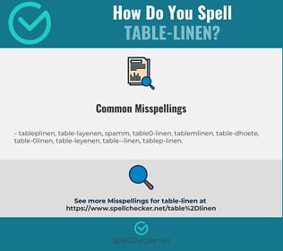 Correct spelling for table-linen