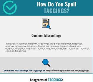 Correct spelling for taggings