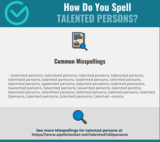 Correct spelling for talented persons