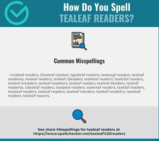 Correct spelling for tealeaf readers