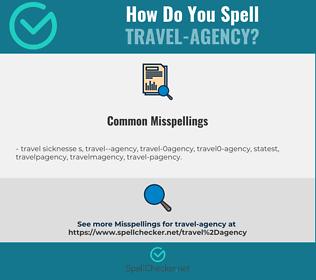 Correct spelling for travel-agency