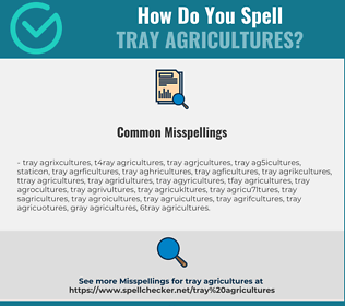 Correct spelling for tray agricultures