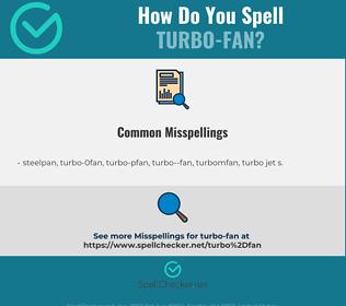 Correct spelling for turbo-fan