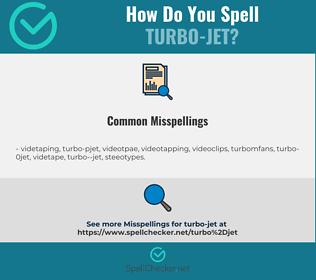 Correct spelling for turbo-jet