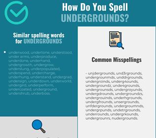 Correct spelling for undergrounds