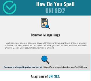 Correct spelling for uni sex