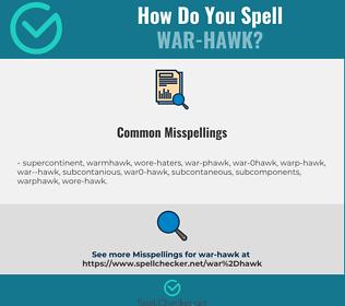 Correct spelling for war-hawk