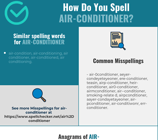 Correct spelling for air-conditioner
