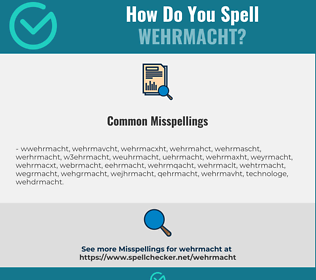 Correct spelling for wehrmacht