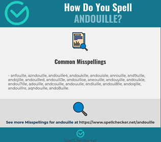 Correct spelling for andouille