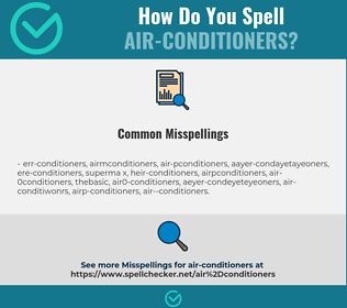Correct spelling for air-conditioners