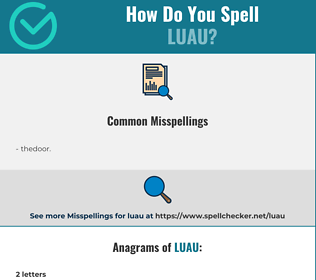 Correct spelling for luau