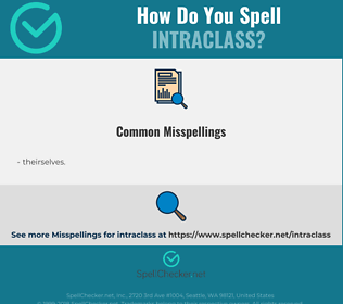 Correct spelling for intraclass