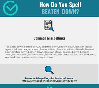 Correct spelling for beaten-down