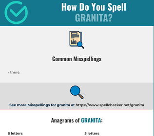 Correct spelling for granita