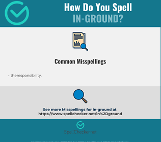 Correct spelling for in-ground