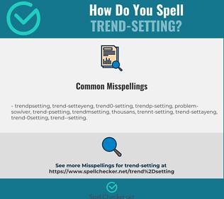 Correct spelling for trend-setting