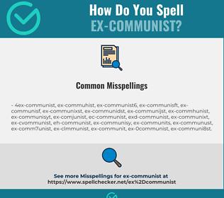 Correct spelling for ex-communist