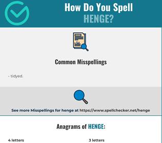 Correct spelling for henge