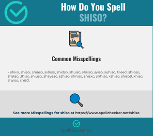 Correct spelling for shiso