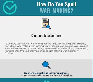 Correct spelling for war-making