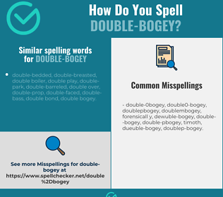 Correct spelling for double-bogey