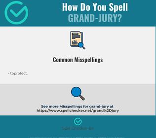 Correct spelling for grand-jury