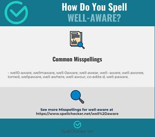 Correct spelling for well-aware