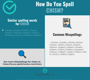 Correct spelling for chism