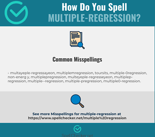 Correct spelling for multiple-regression