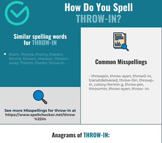 Correct spelling for throw-in