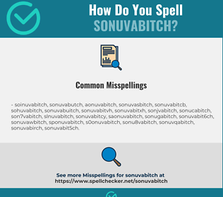 Correct spelling for sonuvabitch