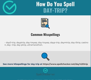 Correct spelling for day-trip
