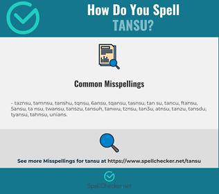 Correct spelling for tansu