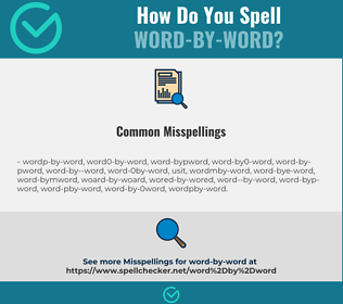 Correct spelling for word-by-word
