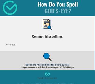 Correct spelling for god's-eye