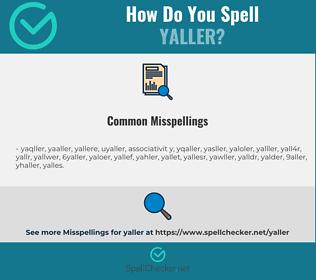 Correct spelling for yaller