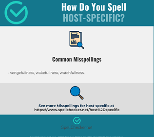 Correct spelling for host-specific