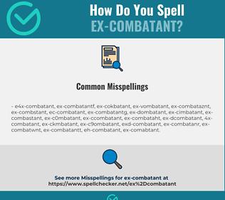 Correct spelling for ex-combatant