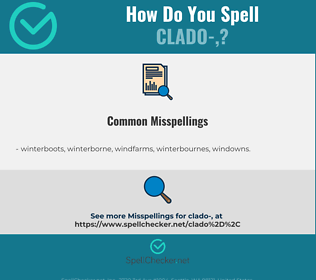 Correct spelling for clado-,