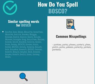 Correct spelling for bosco