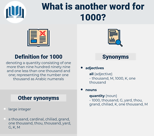 1000, synonym 1000, another word for 1000, words like 1000, thesaurus 1000