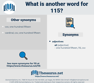 115, synonym 115, another word for 115, words like 115, thesaurus 115