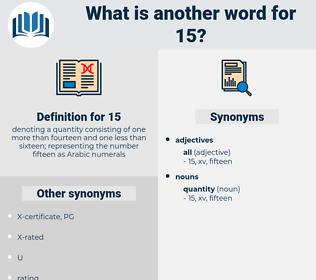 15, synonym 15, another word for 15, words like 15, thesaurus 15