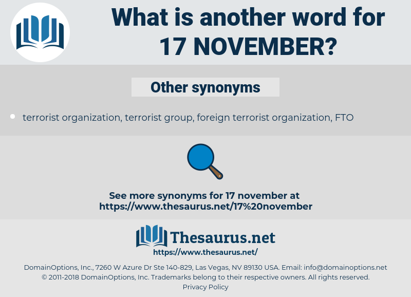 17 November, synonym 17 November, another word for 17 November, words like 17 November, thesaurus 17 November