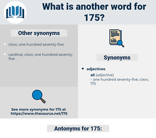 175, synonym 175, another word for 175, words like 175, thesaurus 175