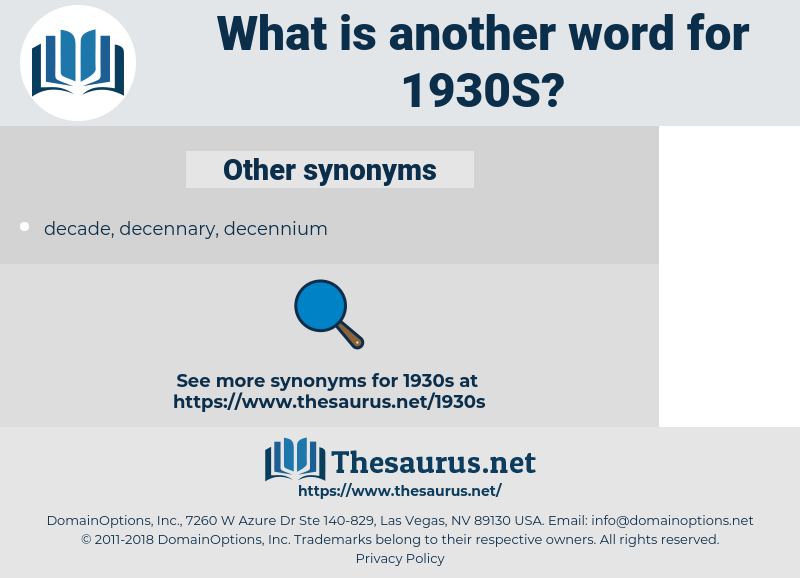 1930s, synonym 1930s, another word for 1930s, words like 1930s, thesaurus 1930s