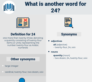 24, synonym 24, another word for 24, words like 24, thesaurus 24