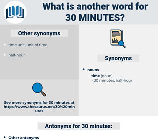 30 minutes, synonym 30 minutes, another word for 30 minutes, words like 30 minutes, thesaurus 30 minutes
