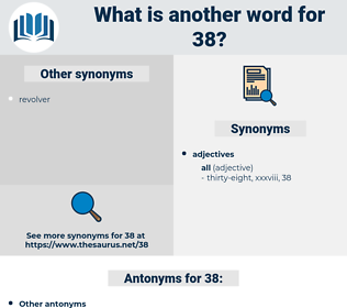 38, synonym 38, another word for 38, words like 38, thesaurus 38